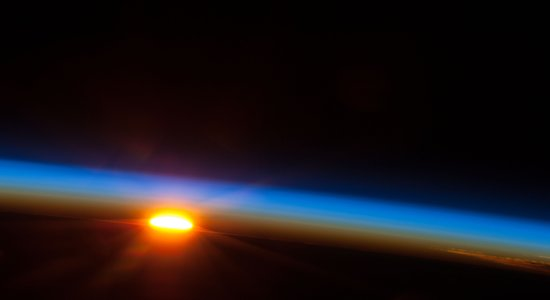 Lg sunrise over pacific  nasa
